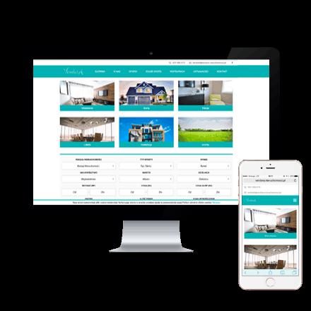 Realizacja Strona internetowa Vendora nieruchomośći