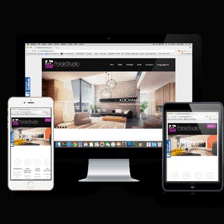 Realizacja- strona internetowa Polak studio