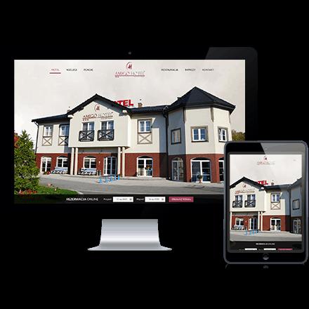 Strona internetowa Hotelu Amigo zrealizowana przez Agencję Interaktywną Premium Digital