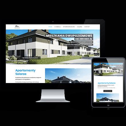 Strona internetowa Apartamenty Solarza zrealizowana przez Agencję Interaktywną Premium Digital