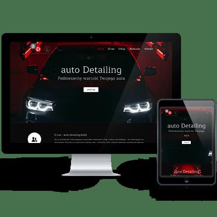 Strona internetowa AutoDetailing Łódź zrealizowana przez Agencję Interaktywną Premium Digital