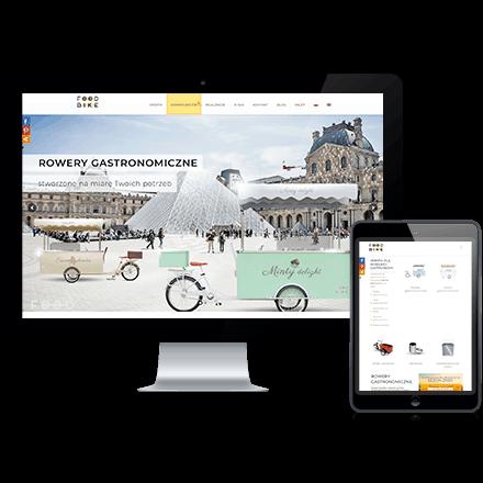 Strona internetowa FoodBike zrealizowana przez Agencję Interaktywną Premium Digital