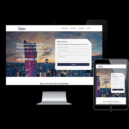 Strona internetowa Homebuyers zrealizowana przez Agencję Interaktywną Premium Digital