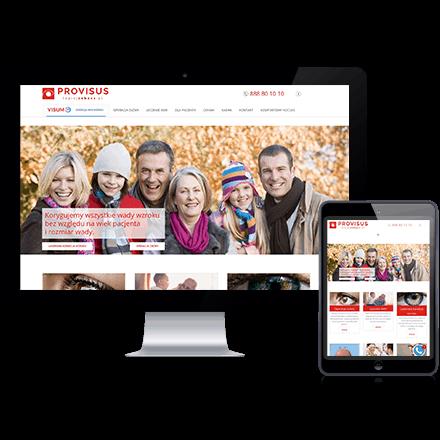 Strona internetowa Lepiejzobacz zrealizowana przez Agencję Interaktywną Premium Digital