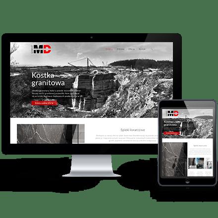 Strona internetowa MD Granit zrealizowana przez Agencję Interaktywną Premium Digital