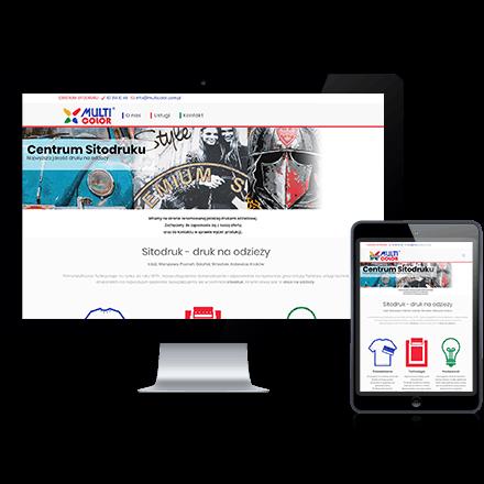 Strona internetowa MultiColor zrealizowana przez Agencję Interaktywną Premium Digital