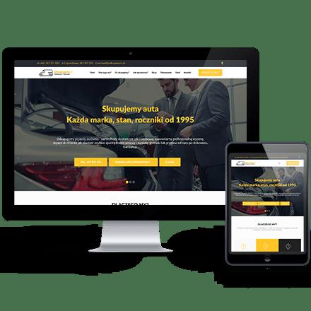 Strona internetowa OdkupieAuto zrealizowana przez Agencję Interaktywną Premium Digital