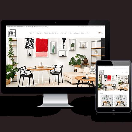 Strona internetowa ProjektLoft zrealizowana przez Agencję Interaktywną Premium Digital