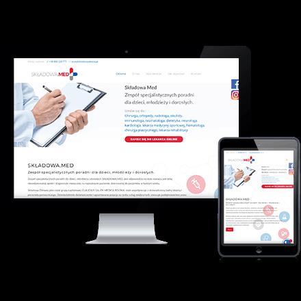 Strona internetowa SkładowaZdrowie zrealizowana przez Agencję interaktywną Premium Digital